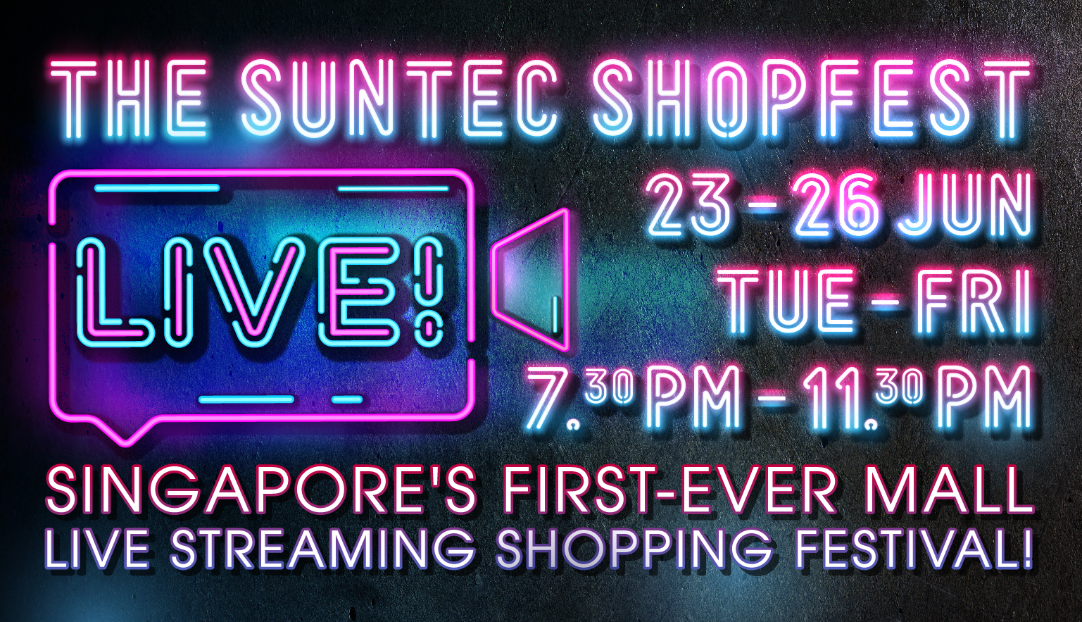 Suntec's first live streaming shopping event